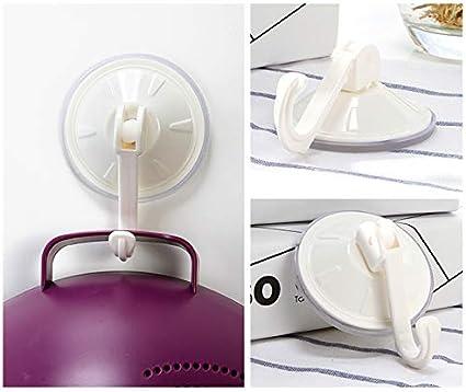 Ganchos extra/íbles 22 Libras Color Blanco Ganchos con Ventosa para Pared de ba/ño Encozy Cocina