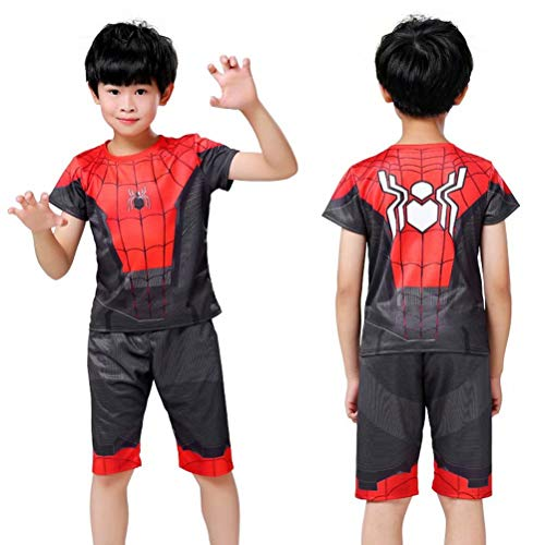Tsyllyp Kids Boys Spider-Man Halloween Costume Clothing Shorts Set Suit Outfit ()