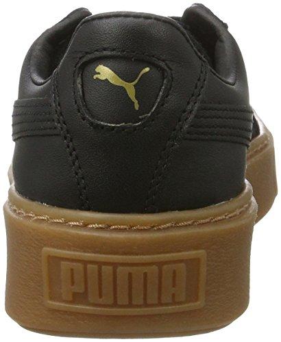 Puma Damen Basket Platform Core Sneaker Schwarz (Puma Black-Puma Black)