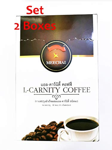 Set 2 Instant Healthy 3in1 Coffee Detox, Control Weight, Help Skin From Jasmine Brown, Marine Collagen Peptide, Cactus Extract, White Kidney Bean Extract 2 x (10Sachets) ()