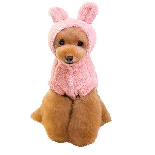 NACOCO Dog Soft Nap Costume with Bear Ears