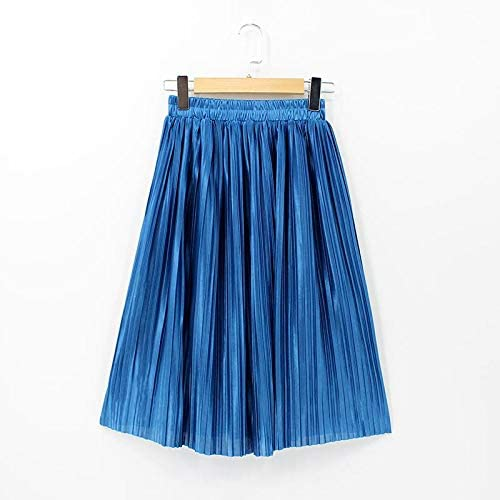 HANGON Faldas de Seda para Mujer, Falda Plisada de Verano ...