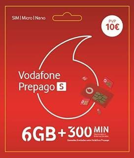 Vodafone Prepago L 40 GB (25+15GB Extra) + Llamadas ilimitadas Nacionales Roaming Europa y EEUU: Amazon.es: Electrónica