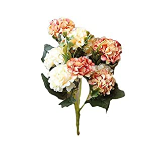 MARJON Flowers1 Bouquet 10 Head Artificial Ball Chrysanthemum Flower Garden Office Dining Table Fake Flower Coral 112