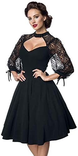 Belsira Lacedress Frauen Mittellanges Kleid schwarz