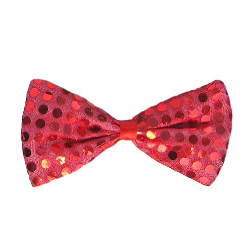 [SeasonsTrading Red Sequin Bow Tie ~ Fun Costume Party Accessory (STC12060)] (Fun Cheap Easy Halloween Costumes)