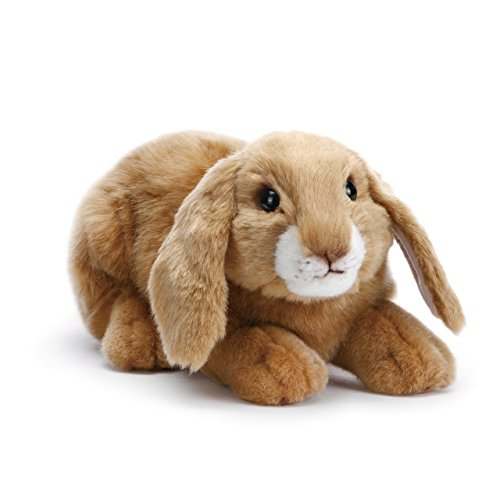 DEMDACO Doleful Small Lop Ear Bunny Light Brown Children's Plush Stuffed Animal