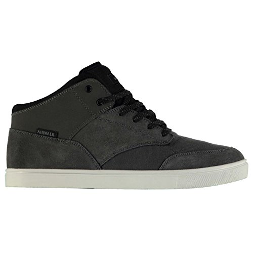 Airwalk coupe-circuits Mid Top Chaussures de skate pour homme Anthracite/BLK Baskets Sneakers Chaussures
