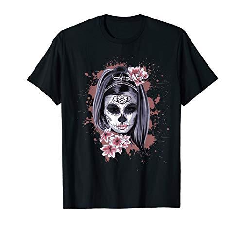 La Calavera Catrina Halloween Candy Sugar Skull Girl T-Shirt -