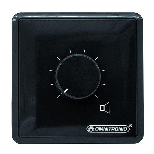 Controlador de volumen PA, 30 W mono bk OMNITRONIC 80711011