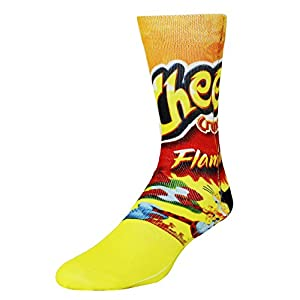Mens Funny Crazy Color 3D Food Pattern Athletic Basketball Sports Crew Tube Sock