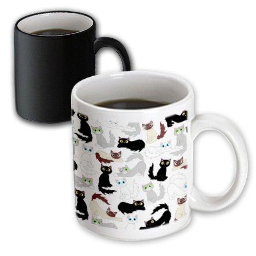 3dRose Kawaii Cats Cute Transforming 11 Ounce