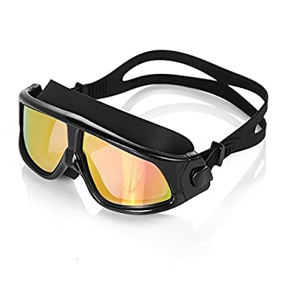 HiCool™ Adult Swim Mask Goggle with Anti-Fog and UV Protection Mirrored lenses for Man and Woman