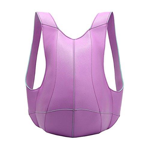 LAIDAYE La Moda De Gran Capacidad Robo De Los Hombros De La Mochila Purple