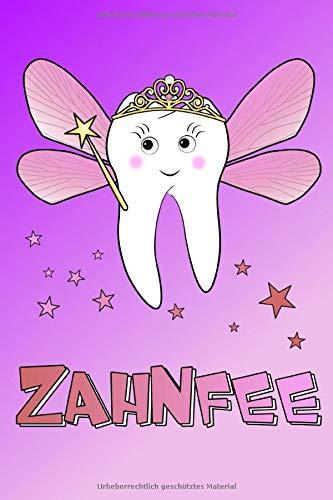 Zahnfee  Notizbuch Liniert Mit Inhaltsverzeichnis 120 Seiten Softcover