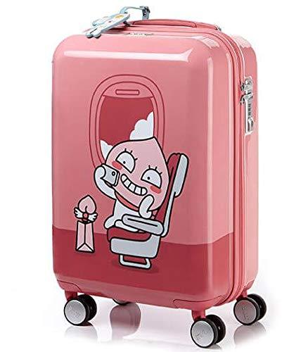 KAKAO FRIENDS カカオフレンズキャラクター スーツケース 旅行かばん Samsonite APEACH スーツケース TSAロック SUITCASE PINK(海外直送品) 55/20  B07L4YP8HG