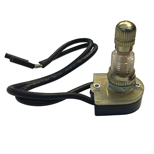 Gardner Bender GSW-61  Electrical Rotary Switch, SPST, ON-OFF, 6 A/125V AC, 6 inch Wire Terminal ()