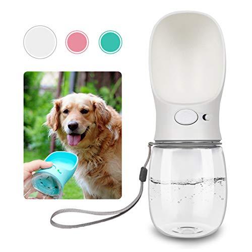 QQPETS Dog Water Bottle for Walking, Dispenser Pet Portable Dogs Cats 12OZ Travel Drink Bottle Bowls BPA Freee,Leak…