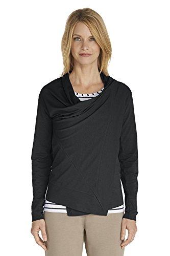 Coolibar–Camiseta de, con protección solar FPS 50+, zno UV Sun Negro - negro