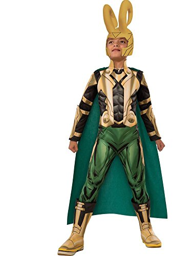 Avengers Assemble Loki Deluxe Costume, Child's Large -