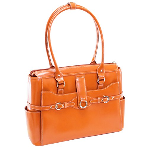 Willow Tote - McKlein USA WILLOW SPRINGS W Series Leather Ladies' Briefcase Tote Orange