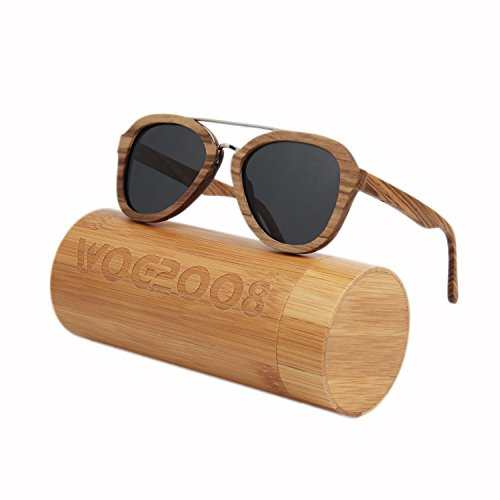 Wood bamboo sunglasses Polarized wooden wayfarer shades for Men & Women that floats in - Man Shades In