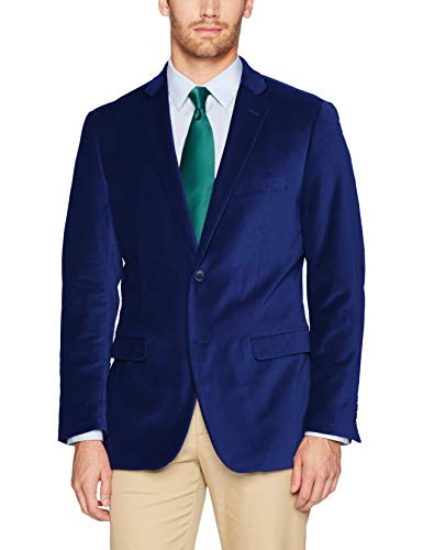 Coat 38 Short - U.S. Polo Assn. Men's Velvet Sport Coat, Cobalt, 38 Short