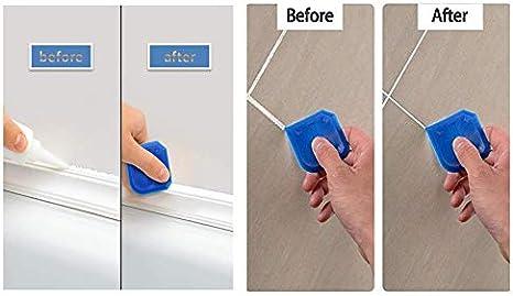 el espacio y el marco la cocina Juego de herramientas para sellar el suelo juego de herramientas para el cuarto de ba/ño 9 piezas de silicona para eliminar el polvo de la pintura