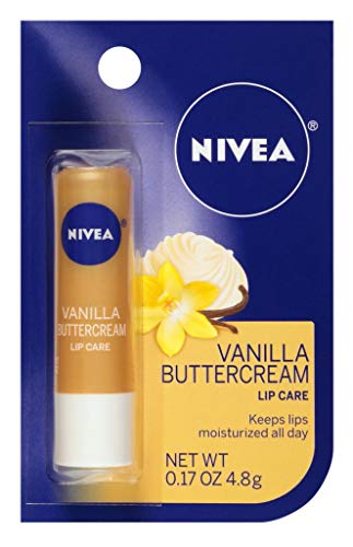 Nivea Lip Care Vanilla Butter Cream 0.17 Ounce Carded (6 Pieces)