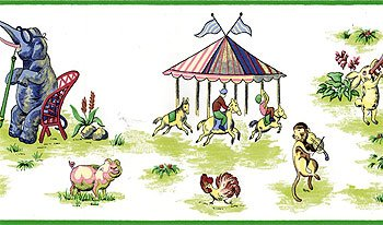 circus-animals-wide-wallpaper-accent-border