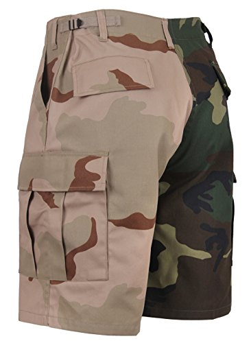 (Rothco Two-Tone Camo BDU Short, Woodland/Tri-Color Camo, M)