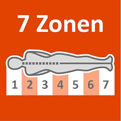 wei/ß sleepling 7-Zonen Kaltschaummatratze Basic 70 H/ärtegrad 2 90 x 200 x 16 cm