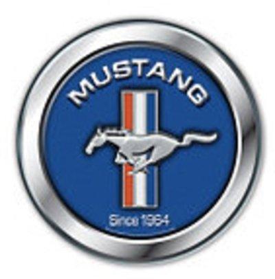 Ford Mustang Azul Cartel de chapa USA Grande de aluminio, 30 ...
