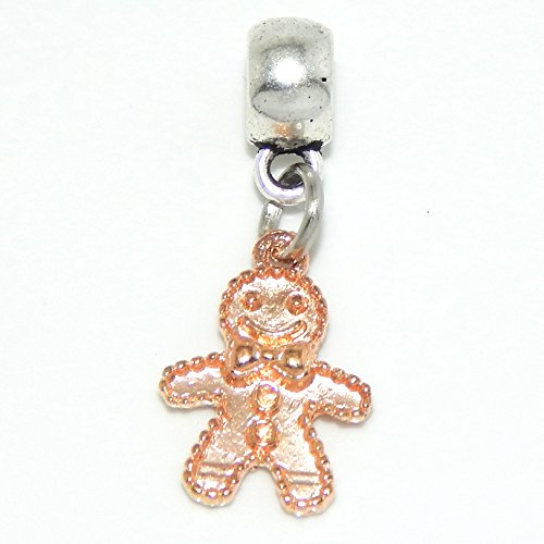 Jewelry Monster Dangling Quot Amber Gingerbread Man Quot Charm