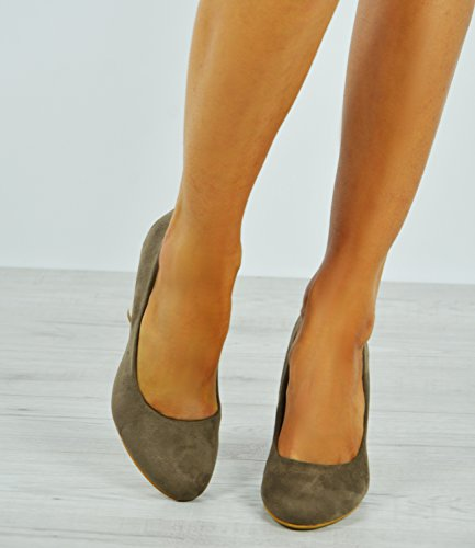 Metal Heel Cucu Fashion Khaki Femme Gold Compensées Sandales 0wPFqawY