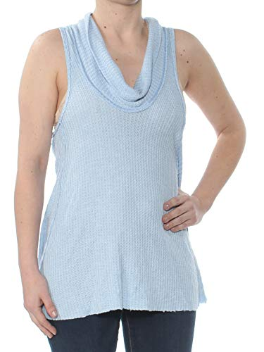Luxury Cowl Neck Top - We The Free Womens Swing It Cowl-Neck Sleeveless Casual Top Blue S