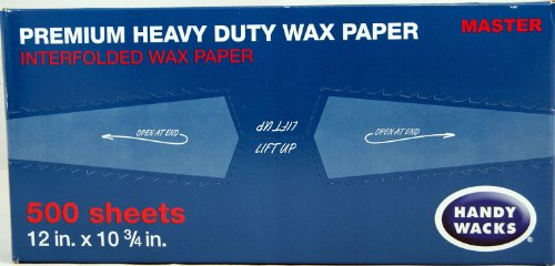 "Price comparison product image Wax Paper Premium Heavy Duty Handy Wacks 12"" X 10 3 / 4"" 1 Box of 500"