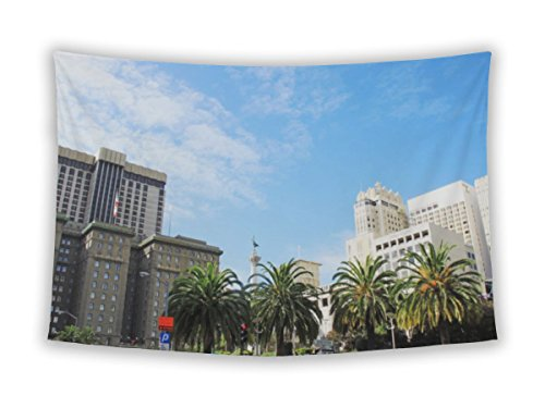 Gear New Wall Tapestry For Bedroom Hanging Art Decor College Dorm Bohemian, Union Square In San Francisco California USA, - San In Square Union Francisco