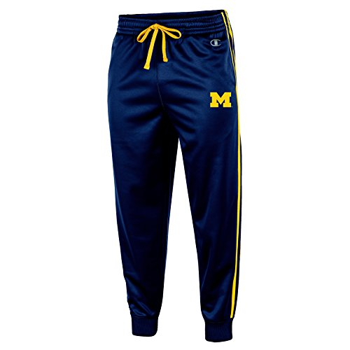 NCAA Michigan Wolverines Men's Pull on Track Pants, Medium, Navy (Michigan Wolverine Pants)