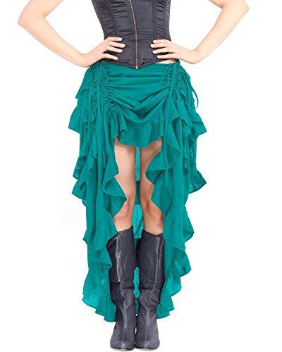 vert ThePirateDressing Femme Jupe Bleu Vert qwzIYg