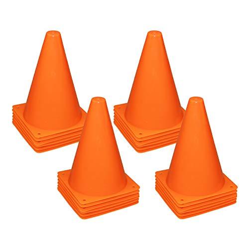 REEHUT 7.5 Inch Plastic Sport Training Traffic Cone (Set of 24, Orange)