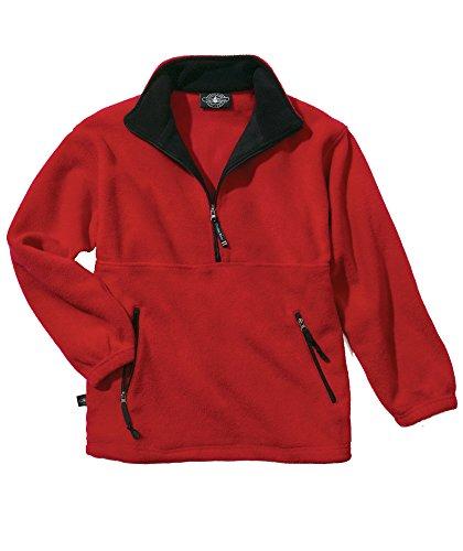 - Charles River Apparel Adirondack Fleece Pullover - 9501 - Red/Black - 3XL