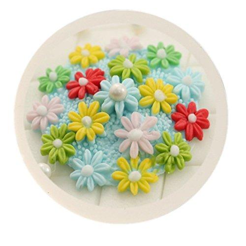 Kentop Silikonform 3D Kleine Blume Fondant Ausstecher Kuchen Form Schokolade Gelee S/ü/ßigkeiten Backen Formen