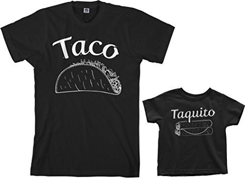 Threadrock Taco amp Taquito Infant Bodysuit amp Men#039s TShirt Matching Set