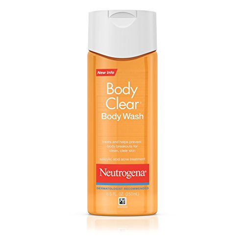 Neutrogena Body Clear Body Wash, Salicylic Acid Acne Treatment, 8.5 Fl. Oz, (Pack of 6) by Neutrogena