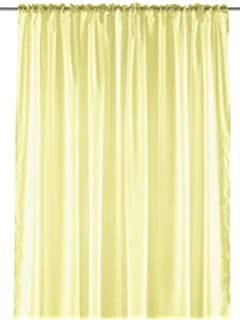 Pastel Sheer Curtain Panel - Elegant Window Long Panel, Beautiful See Through Drapery Panel,