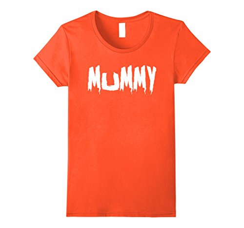 Womens Mom's Mummy T-Shirt Funny Mother's Halloween Costume Party Small Orange - Mommy And Daughter Halloween Costumes