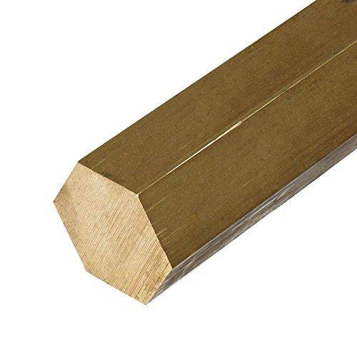 Online Metal Supply C360 Brass Hex Bar 3/8 inch x 12