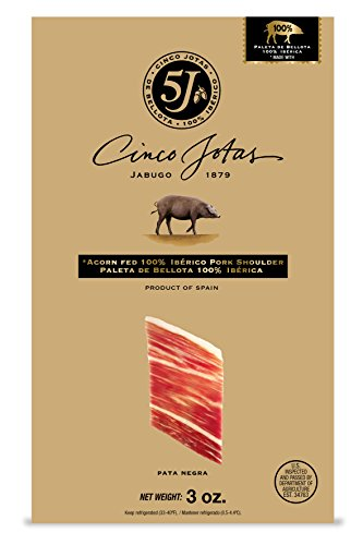 Iberico Ham, Hand-Carved, Three 3 oz Packages by Cinco Jotas (5J) (Image #1)