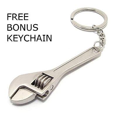 GT//Rotors Neon Chrome Six Speed Manual Transmission Gear Shift Fidget Toy Keychain [Bonus: Mini Monkey Wrench Keychain]: Automotive